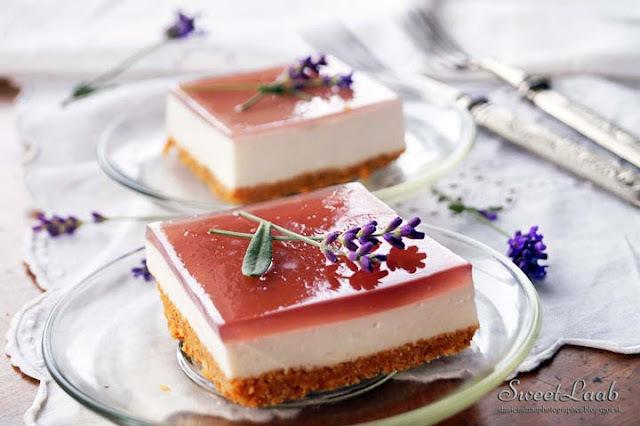 Lavender refreshing bars / Levanduľové osviežujúce rezy / Gâteaux rafraîchissants de lavande / Лавандовый освежающий десерт
