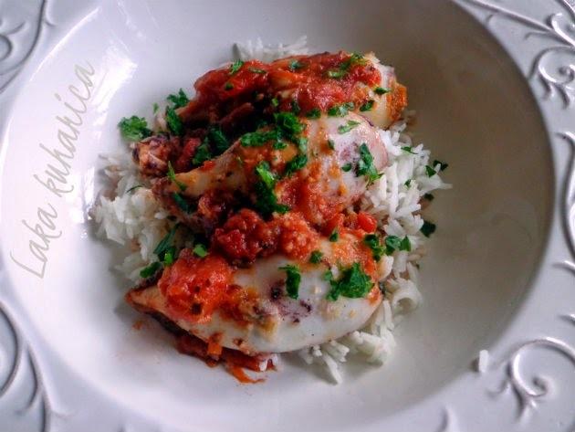 Punjene lignje iz pećnice :: Baked stuffed calamari