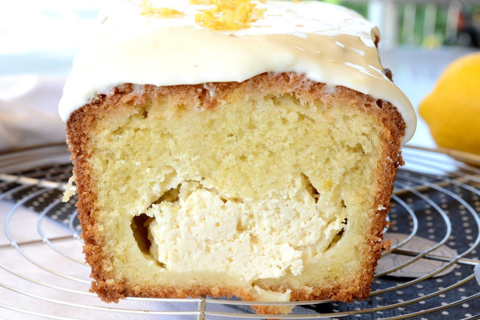 Zitronen Cake mit Cheesecake Füllung