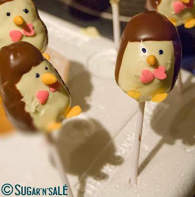 Cake pops pour l'hiver : des pingouins