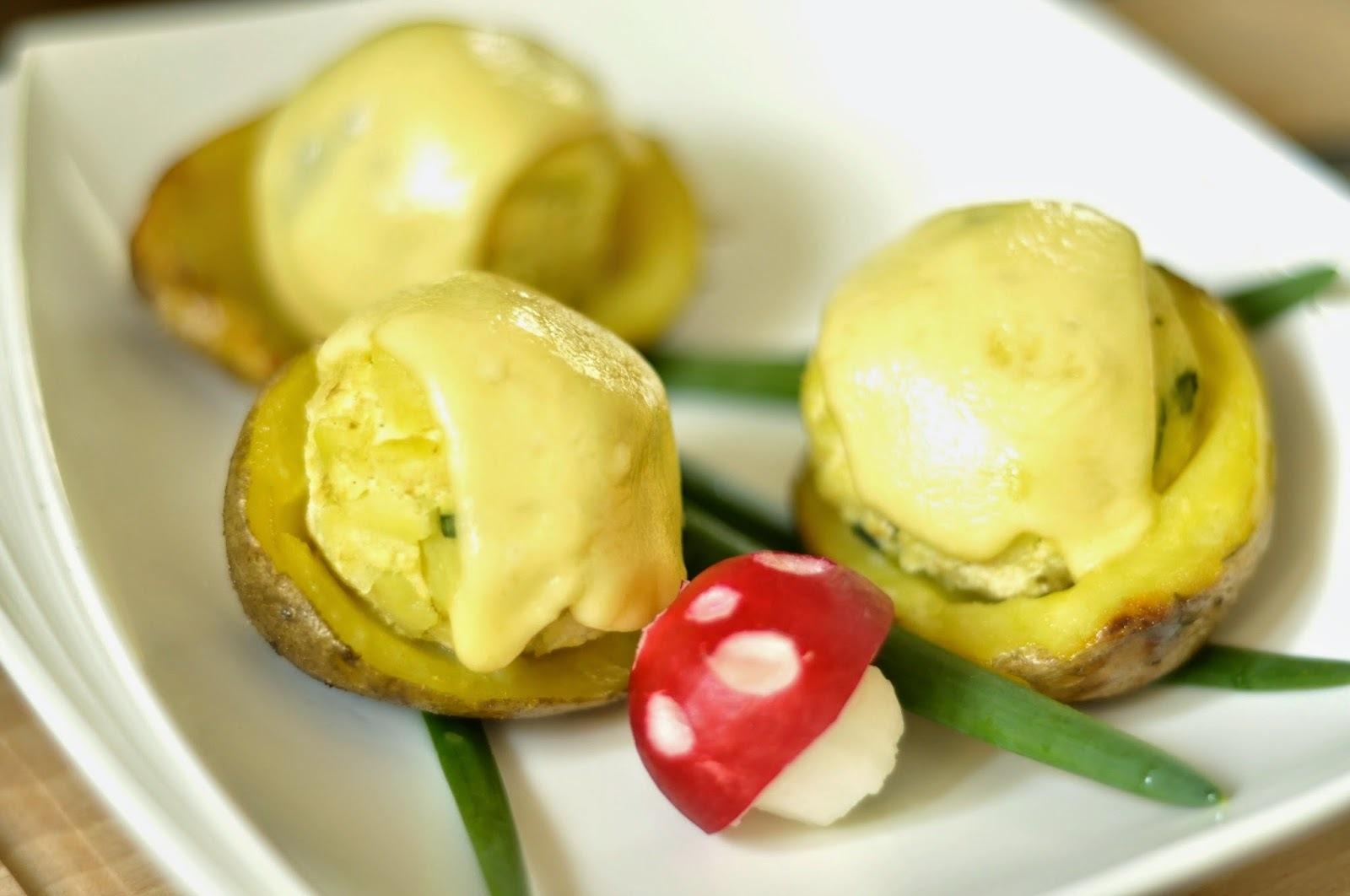 Chrumkavé zemiaky s plnkou z údeného tofu