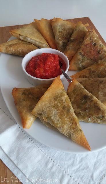 Recette des samoussas aux légumes, petite sauce aux épices