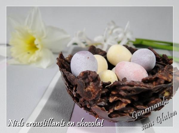 Nids croustillants en chocolat pour Pâques