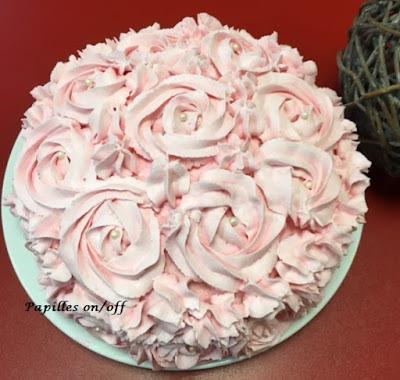 Rose cake à la fraise au thermomix ou sans