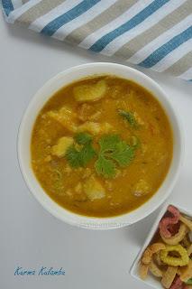 Kurma Kulambu | Potato Masala Gravy | Arachivitta Masala Kulambu