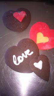 Σοκολατένια Μπισκότα Καρδιά