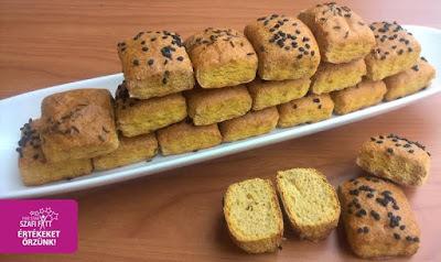Paleo édesburgonyás pogácsa kockák (gluténmentes, tejmentes, szénhidrátszegény)