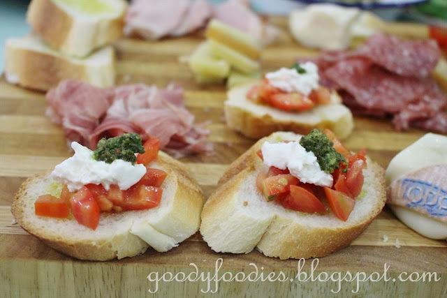 Recipe: Tomato Bruschetta with Burrata Cheese and Basil Pesto