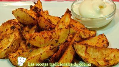 Receta de patatas al horno adobadas