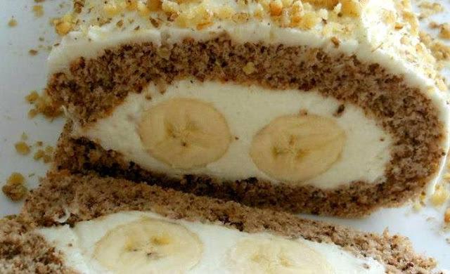 ROLAT S BANANAMA bez jaja i masnoća, izdašan i ukusan