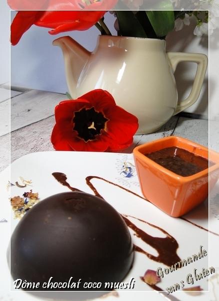 Dôme chocolat coco muesli, sans gluten