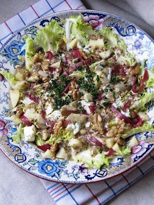 Salade de friseline au magret fumé