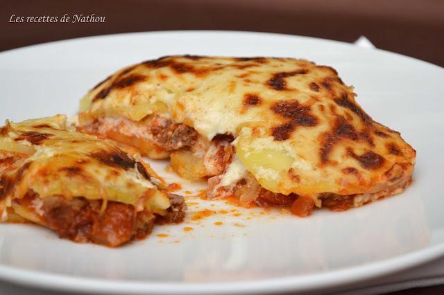 """Gratin de pommes de terre à la bolognaise """"façon"""" lasagnes !"""