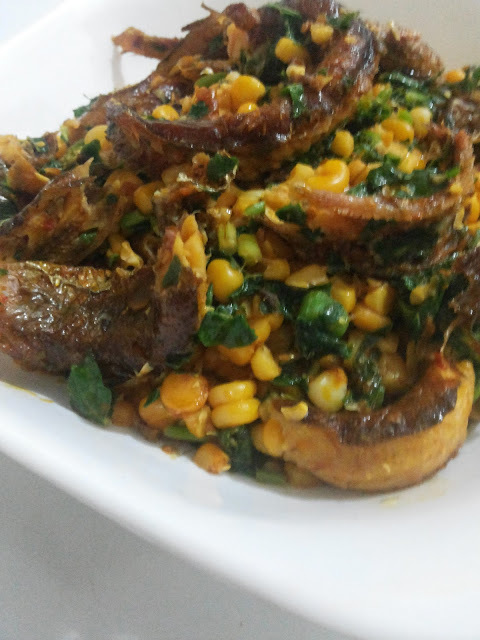 Vegetables Cornmeal With Fish
