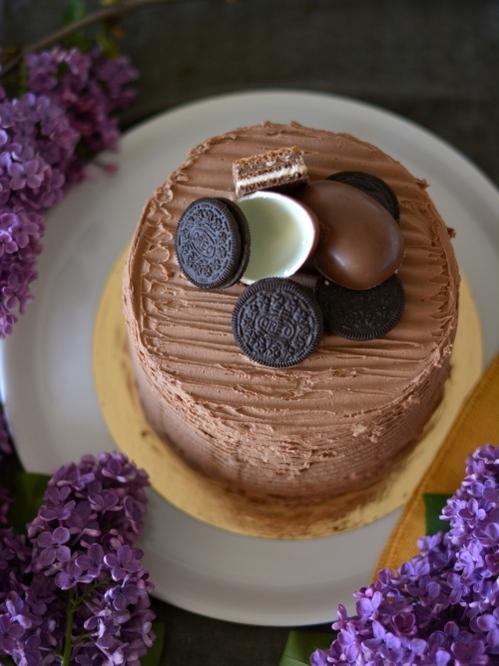 Csokoládétorta Oreo kekszes krémmel