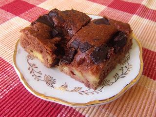Jablkový koláč s čokoládou