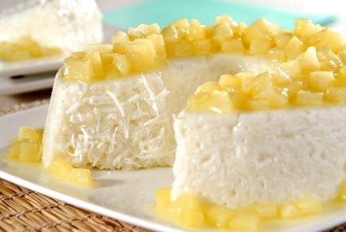 Receita de pudim de tapioca com calda de abacaxi !