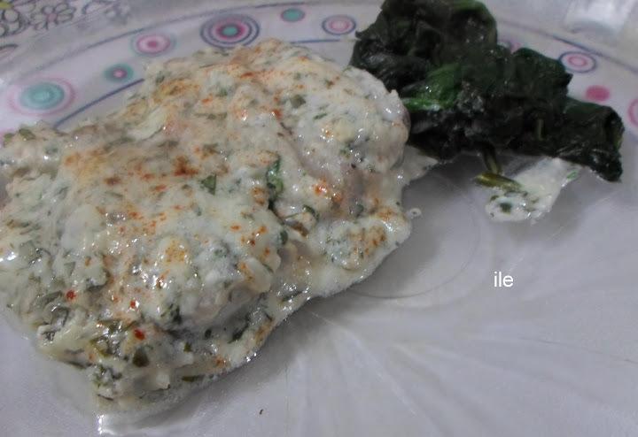 Pescado con pasta de sésamo o tahine