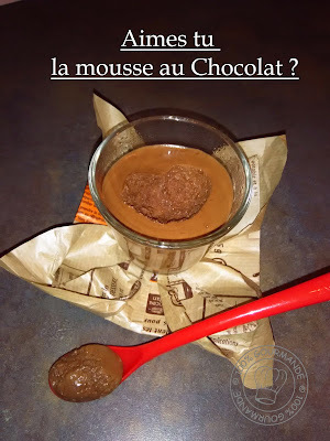 Mousse chocolat Express au Cook'in