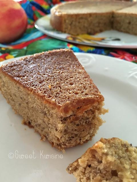 Le gâteau aux amandes et à la cannelle, sans oeuf et sans beurre