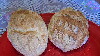 Pão baguete sem ovos