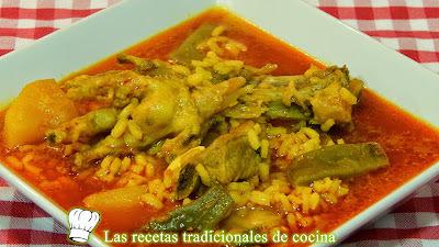 Receta de arroz caldoso con patas de pollo