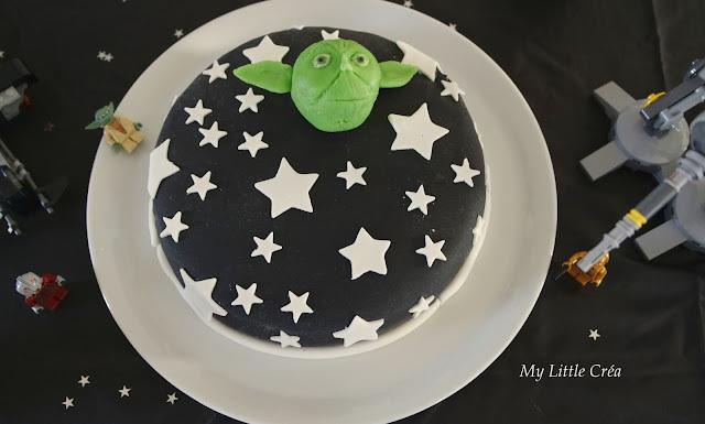 Gâteau d'anniversaire Star Wars, chocolat/praliné