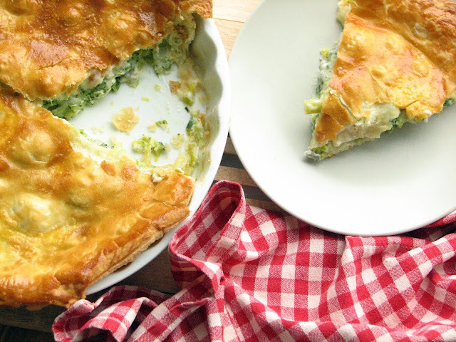 Pita od brokule, poriluka i gorgonzole