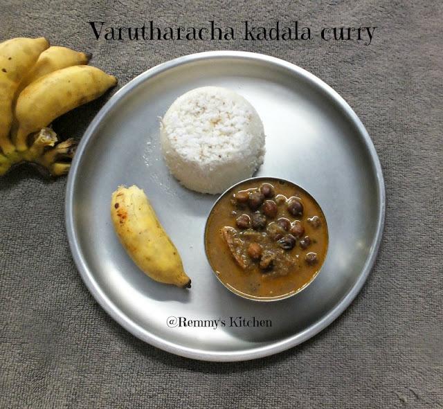 Varutharcaha kadala curry / Chickpeas in roasted coconut gravy kerala style