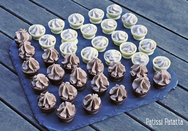 Mini coques au chocolat
