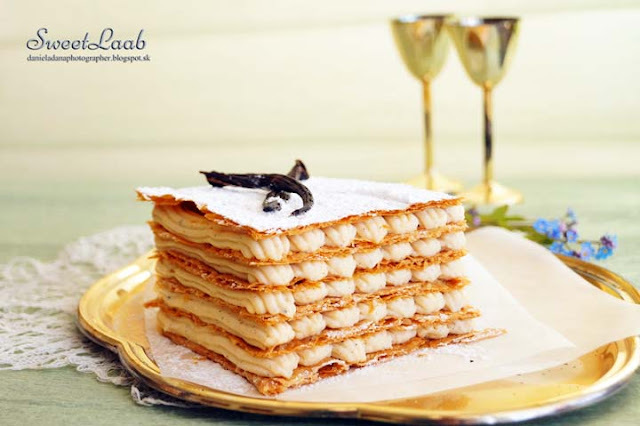 Vanilla Napoleon Slice / Napoleonky z vanilky / Gâteaux de mille-feuille / Наполеоны