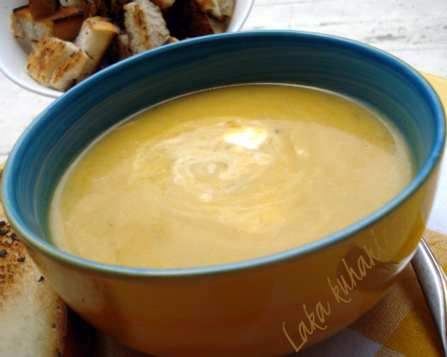 Juha s tikvom i porilukom :: Winter squash and leek soup