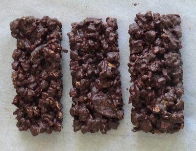Barres de céréales de sarrasin au chocolat sans gluten