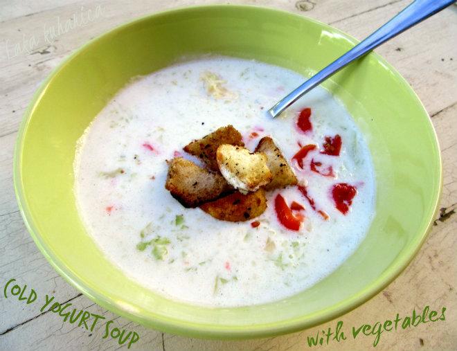 Hladna juha od jogurta s povrćem :: Cold yogurt soup with vegetables