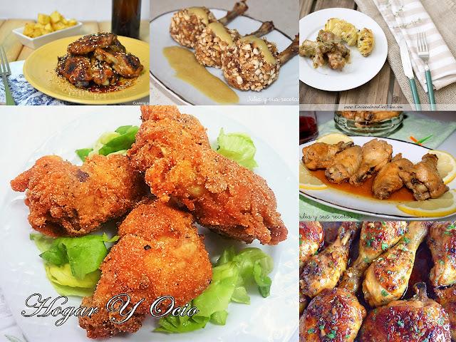 5 formas diferentes de comer las alitas de pollo y unos muslitos crijuentes