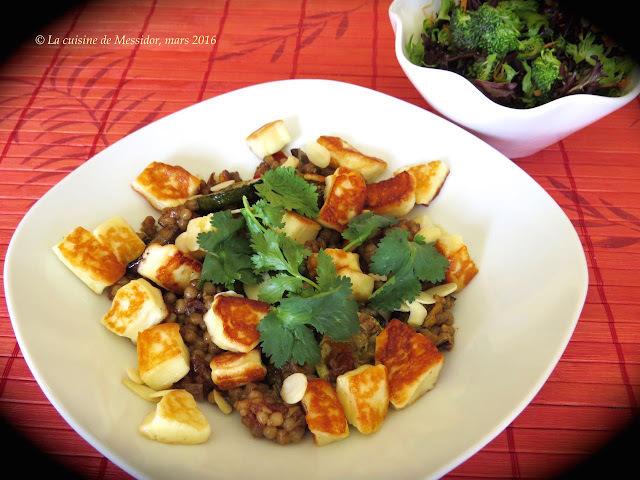 Couscous oriental aux légumes grillés et à l'halloum