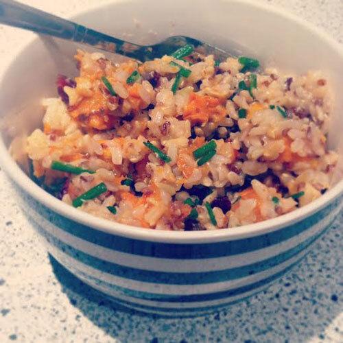 Roast Sweet Potato, Cranberry, Rice & Quinoa Salad