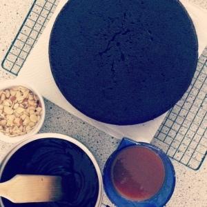 Dark Chocolate, Beetroot and Salted Caramel Layer Cake