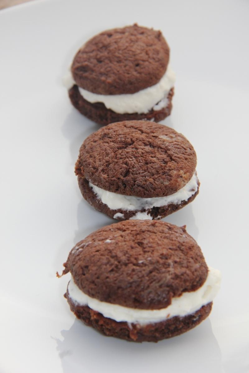 Whoopies au chocolat & coeur crémeux au mascarpone