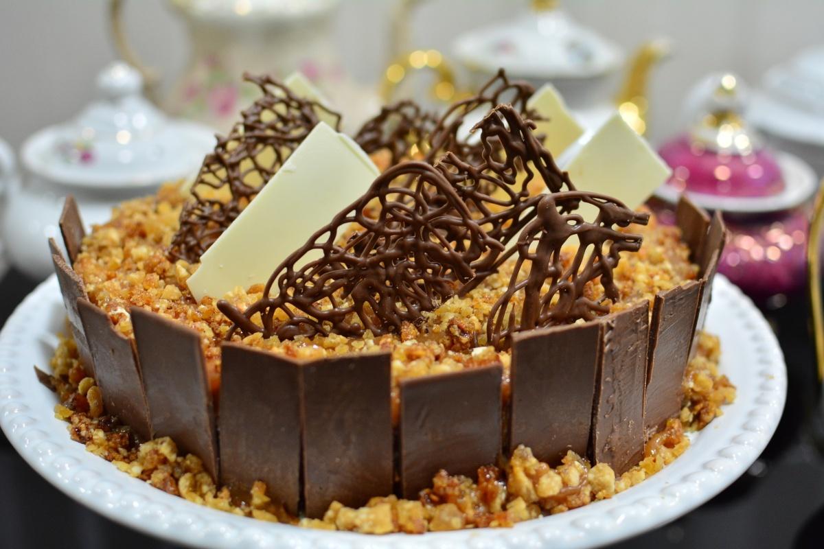 RECEITA: Torta crocante de doce de leite