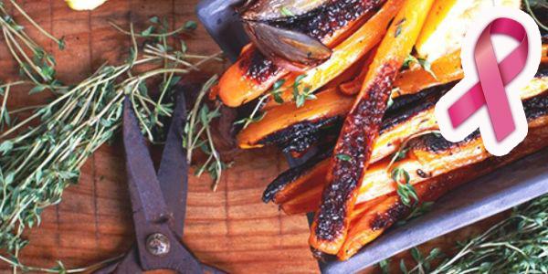 Outubro Rosa: cenouras assadas com tomilho e mel