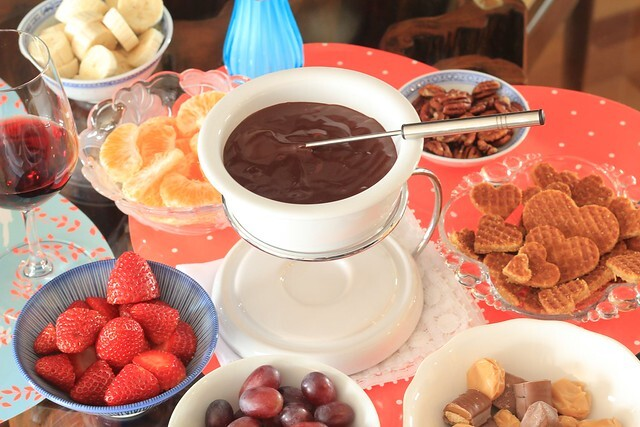 Fondue de chocolate para o dia dos namorados