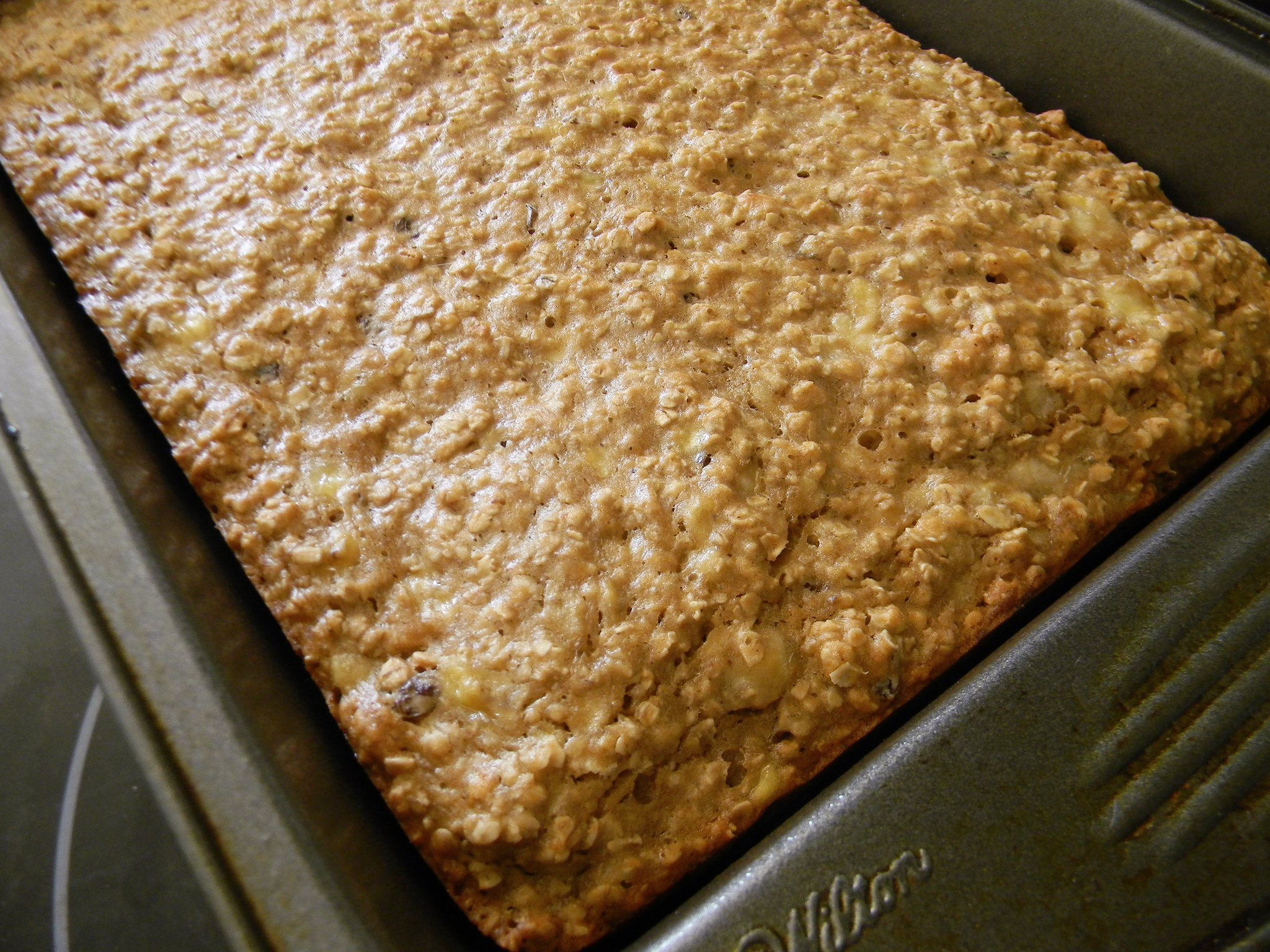 Oatmeal Raisin Banana Bars - #SundaySupper