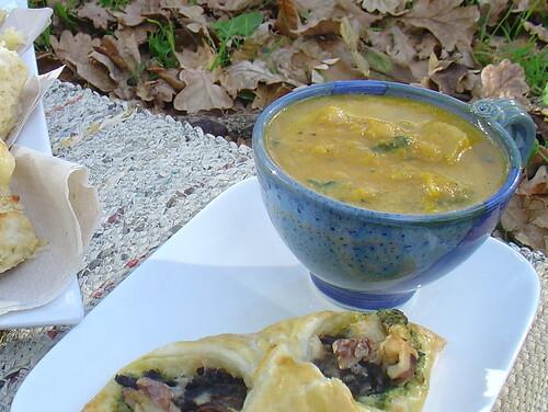 Roasted Pumpkin, Chickpea & Silverbeet Soup