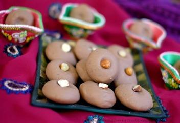 Navratri Special: Chocolate and Hazelnut Pendas (Indian Fudge)