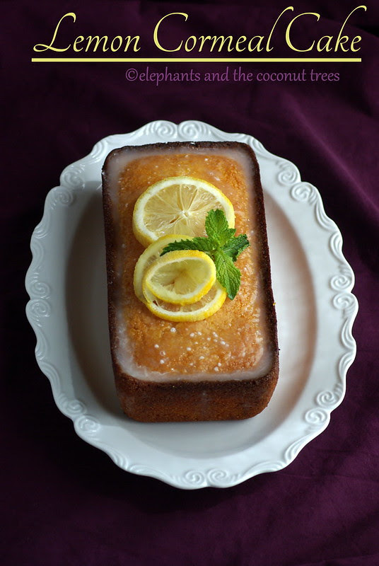 lemon cornmeal cake - Guest post by Meena Kumar