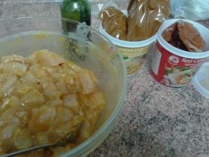 Curry de Pollo estilo medio casi casi Tailandés