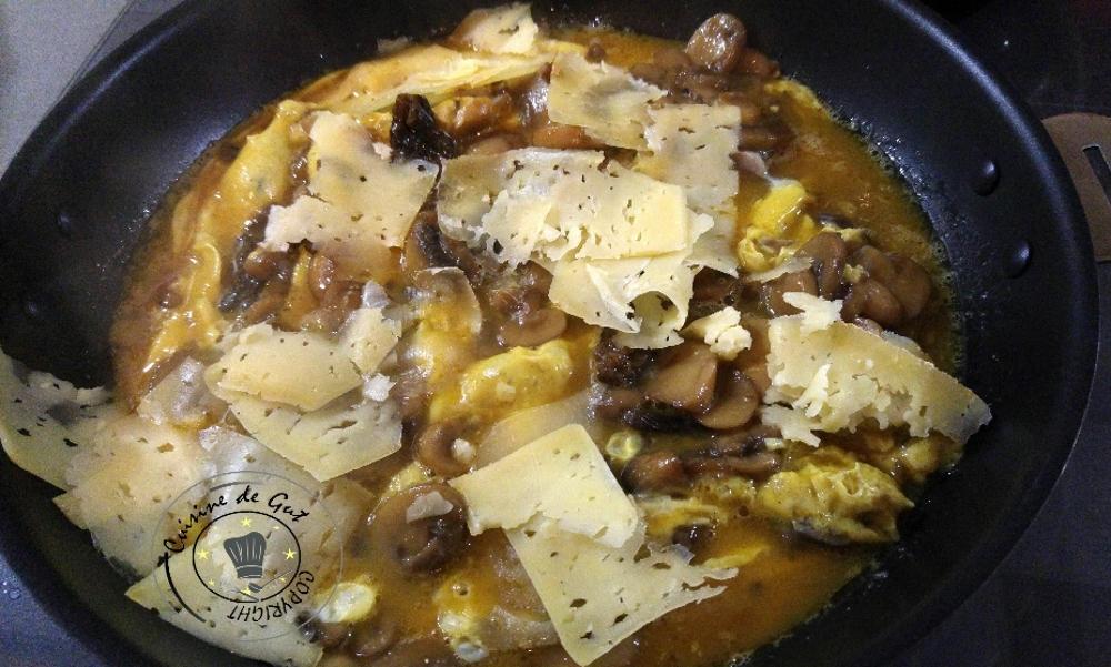 Omelette saveurs de truffes