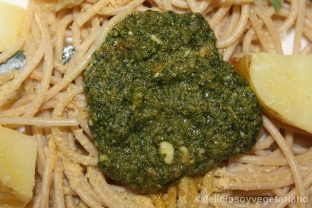 Espaguetis al Pesto