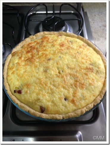 Quiche Alho Poro com Bacon